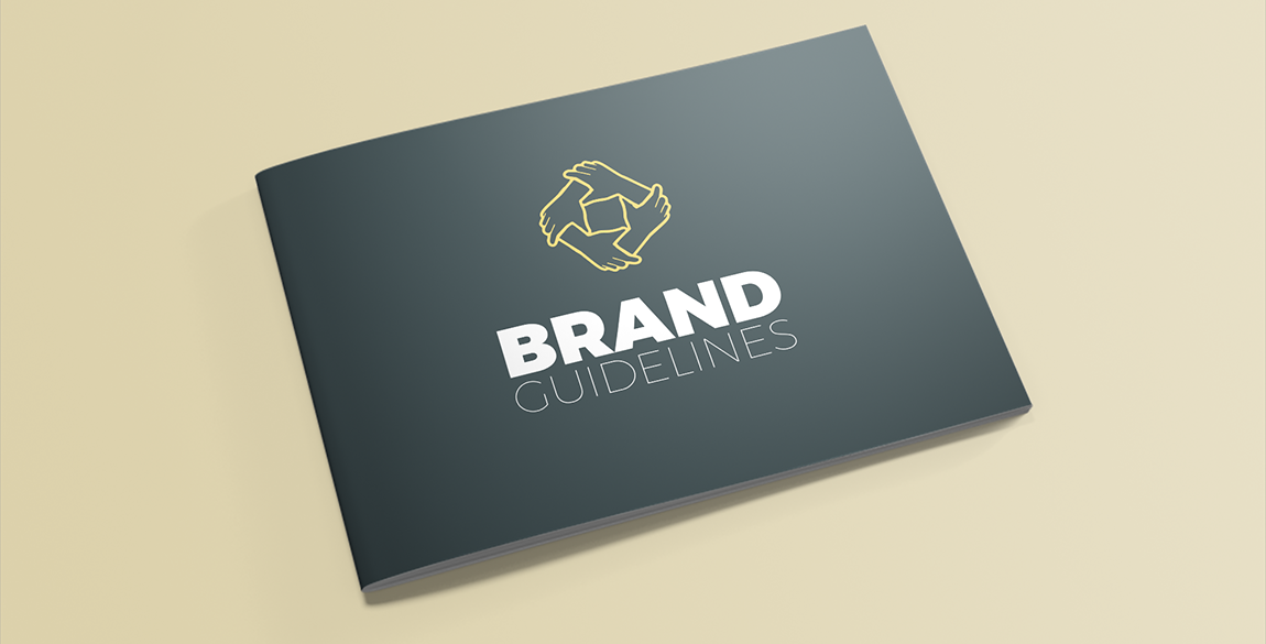 Freiwilligenarbeit Branding Booklet Mockup 1