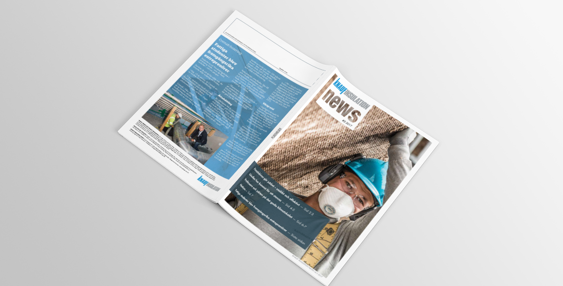 Nordic Insulation Newsletter Design - Front and Back cover