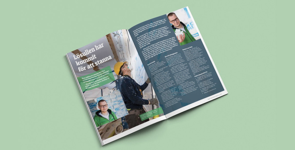Nordic insulation newsletter design inside pages