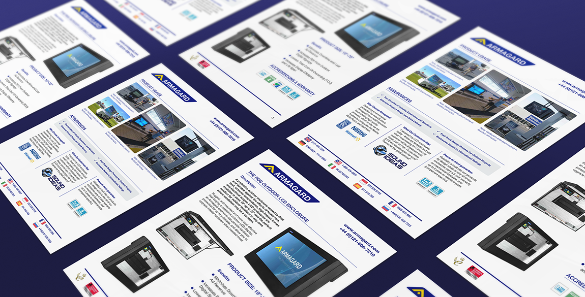 Mock up of many datasheets laid side by side