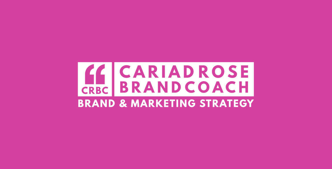 Cariad Rose Brand Identity Logo on a pink background